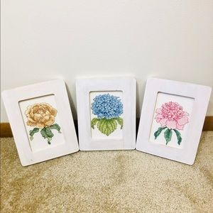 Cross-stitch Floral Hanging Wall Decor